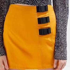 UO Carey Nylon Buckle Mini Skirt